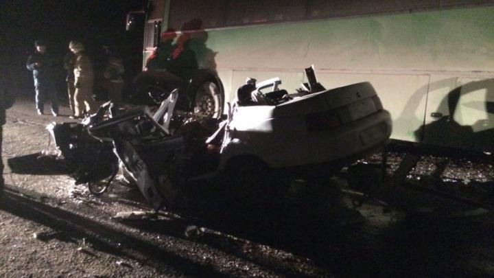 В страшной аварии на трассе в Башкирии погиб водитель ВАЗ-2110