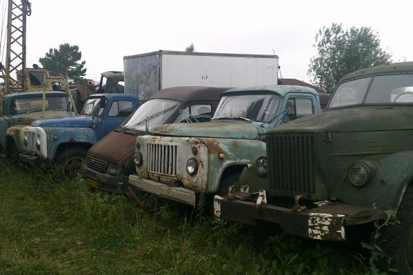 Большинство автомобилей на кладбище машин — грузовики