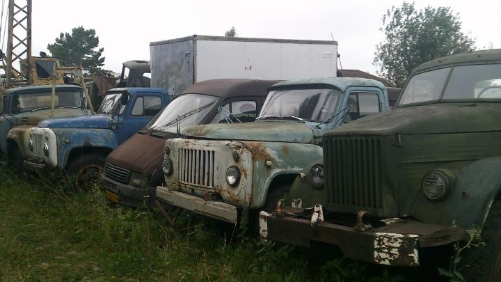 В Новосибирске нашли кладбище с ржавыми машинами