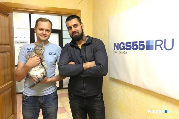 Три котика, и все из них — корреспонденты NGS55.RU