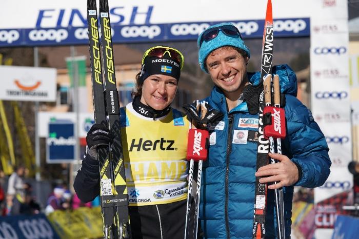 Черноусов вместе со шведкой Бриттой Юханссон Норген, ставшей победительницей среди женщин