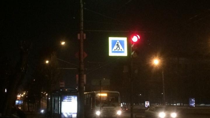 В Омске установят новые светящиеся знаки на пяти переходах