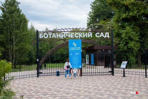 Ботанический сад открыли для посетителей в конце июня
