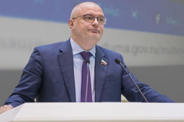 Андрей Клишас, инициатор законопроекта о фейковых новостях