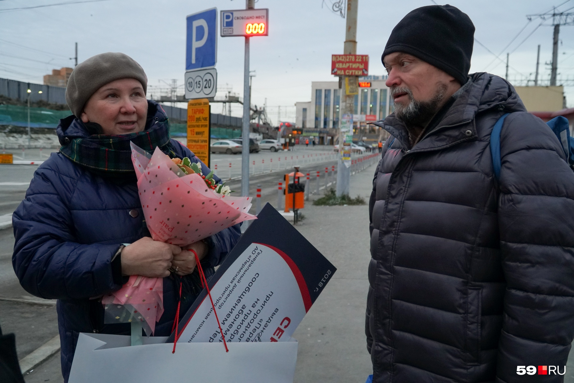 Марина и Владимир — самые первые пассажиры первой пермской «Ласточки»