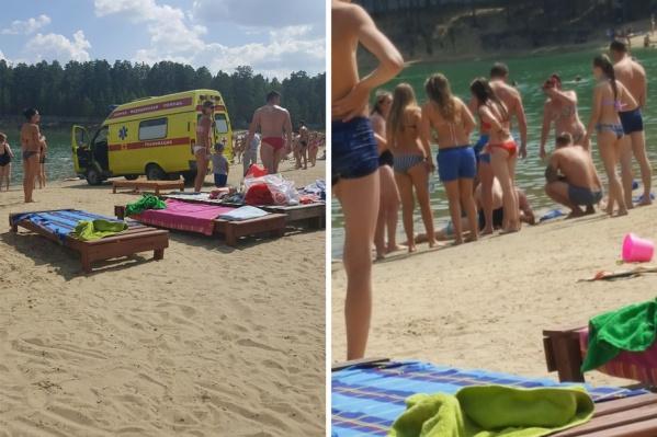 В Кургане на пляже во время купания утонула девочка