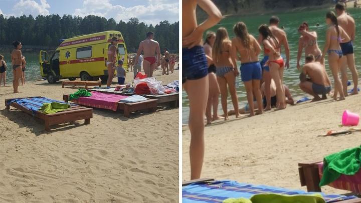 На пляже Голубые озера в Кургане утонула девочка