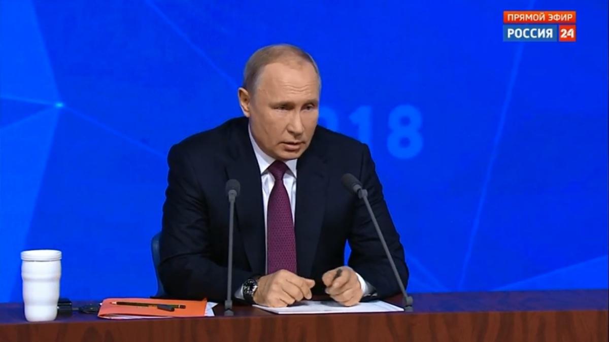 Вопрос из Новосибирска президент получил в течение первого часа пресс-конференции