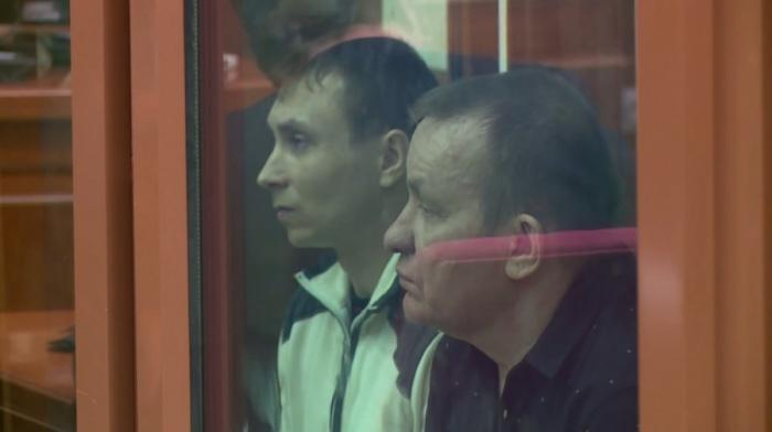 Николай Смовж (справа) на суде. Свою вину он так и не признал
