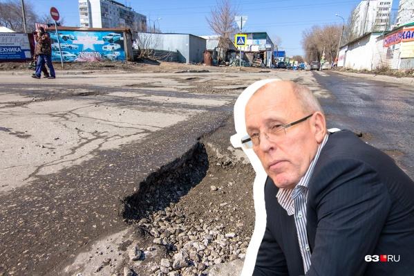Василенко пообещал ремонт Гвардейской, департамент его не выполнил