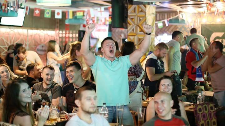 Смотрели стоя: как Челябинск болел за Россию