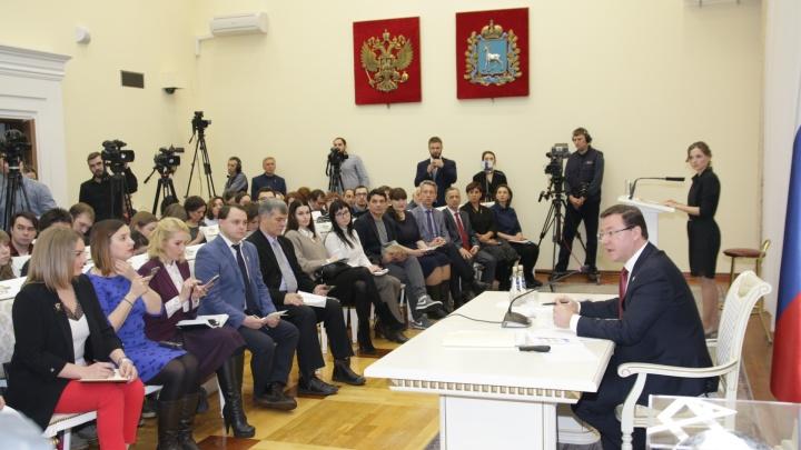 «Искупаюсь в проруби»: в областном правительстве прошла пресс-конференция Дмитрия Азарова