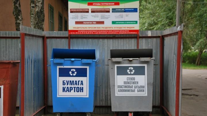 Начнут с детсадов: с осени в области планируют ввести раздельный сбор мусора