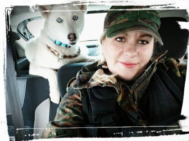 Наталия и ее собака Белка, которая тоже участвует в поисках