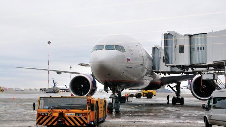 Из-за снегопада в Москве «Аэрофлот» задерживает рейсы в Екатеринбург и обратно