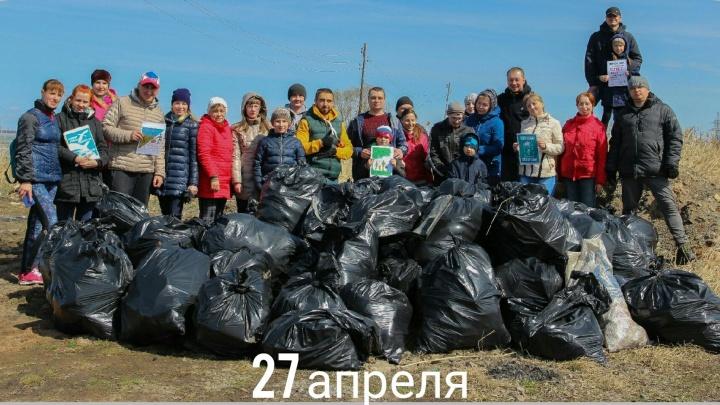 «Опубликуем мобильный главы»: собранный на субботнике в Чурилово мусор вывезли только после шантажа