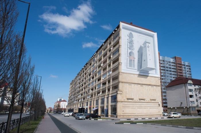 3D-граффити, созданные екатеринбургскими художниками, рассказывают об истории Чечни