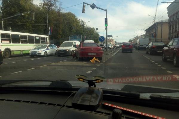 Пробка начинается от «Рио» на Московском проспекте