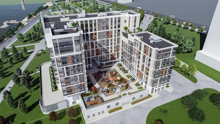 На набережной строят элитный жилой комплекс с лоджиями в 30 квадратов