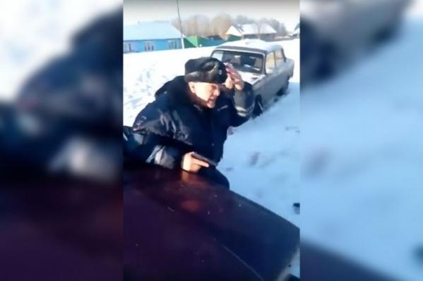 Видео сняли в Березовке 15 ноября