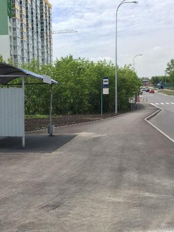 В новом микрорайоне Кемерово появилась остановка и пешеходный тротуар (фото)