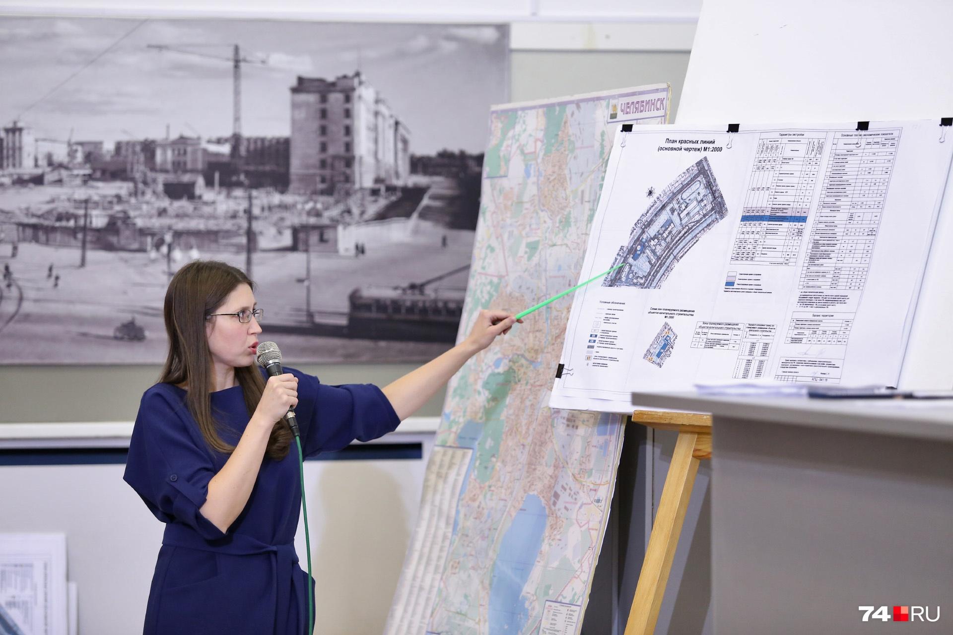 Проектировщик рассказала, что рядом со старым зданием планируется размещение ещё одного учебного корпуса