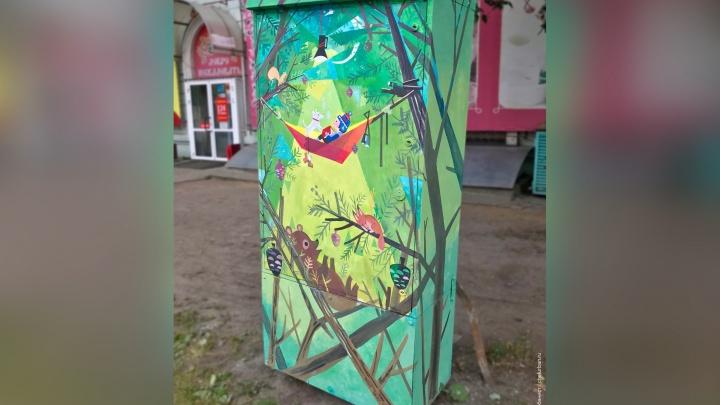 Напоминает о гармонии человека и природы: напротив челябинского онкоцентра раскрасили серый ящик