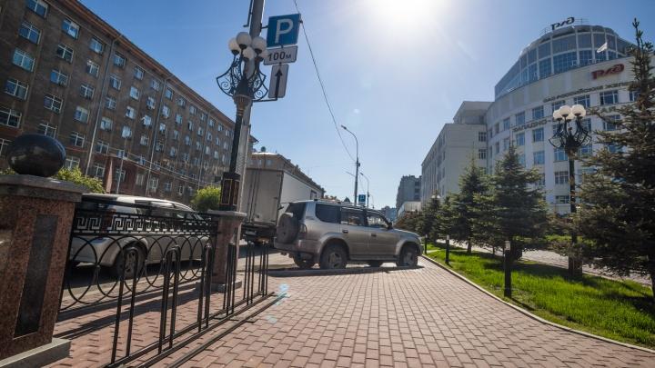 В центре Новосибирска появилась новая велопарковка