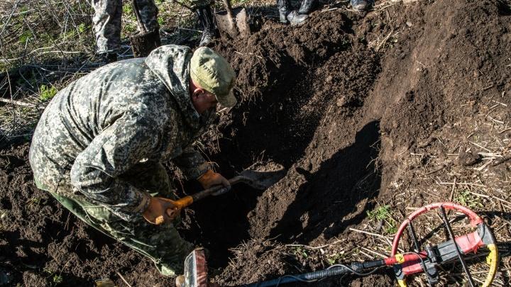 В Ростовской области нашли останки красноармейца, 75 лет пролежавшего почти на виду