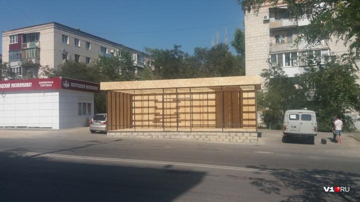 В центре Волгограда администрация узаконила павильон у пешеходного перехода на островке безопасности