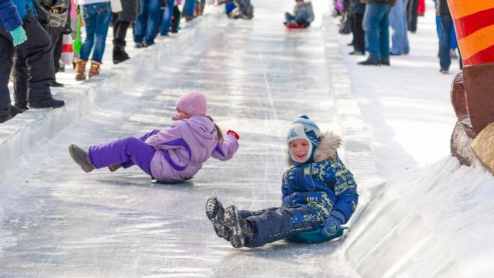 На Масленицу в Ярославле построят 10 снежных горок