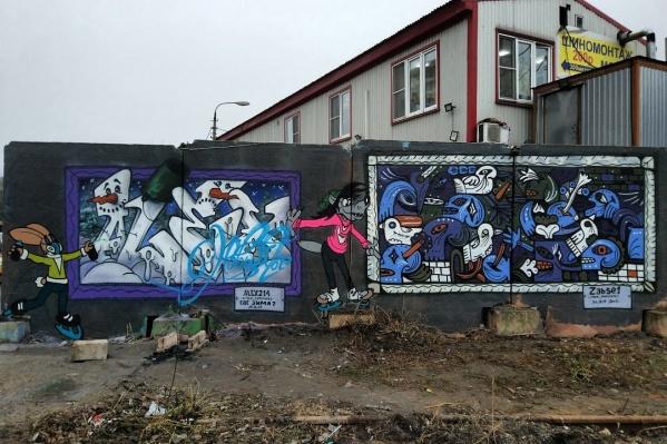 Так выглядит новое новогоднее граффити