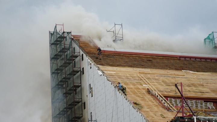 Здание Музыкального театра горит в Ростове