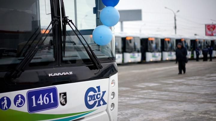Впервые за шесть лет омичам презентовали большие муниципальные автобусы