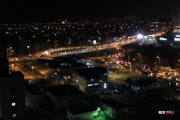 Сильнее всего движение затруднено на кольце Московское шоссе — Авроры