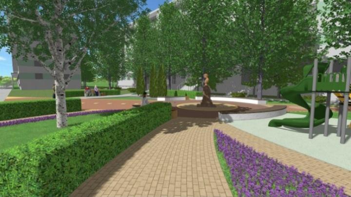 Живая изгородь, туи, детская площадка и бюст Гагарина: как обустроят новый сквер в Челябинске