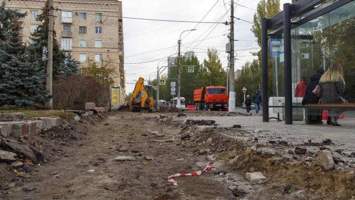 «Кладём пять видов плитки»: в Волгограде бульвар на Порт-Саида замостят брусчаткой