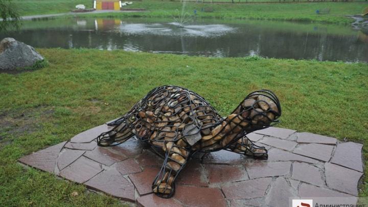 В уфимском парке поставили новые арт-объекты