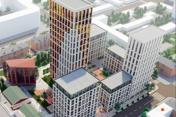 Клубный дом на Ленина, 8 будет состоять из семи разноэтажных секций