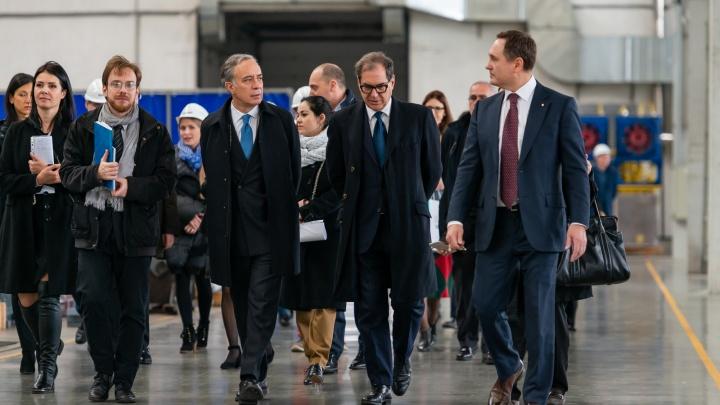 «Идеальное место для совместных проектов»: посол Италии посетил индустриальный парк «Станкомаш»