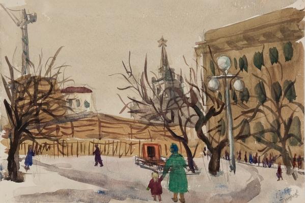 Этот рисунок, хранившийся в чемодане, нарисовал Гена Тутулов. О судьбе художника почти ничего не известно