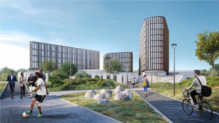 Ради строительства офисного городка со скалодромом и парком в Екатеринбурге расширят несколько улиц