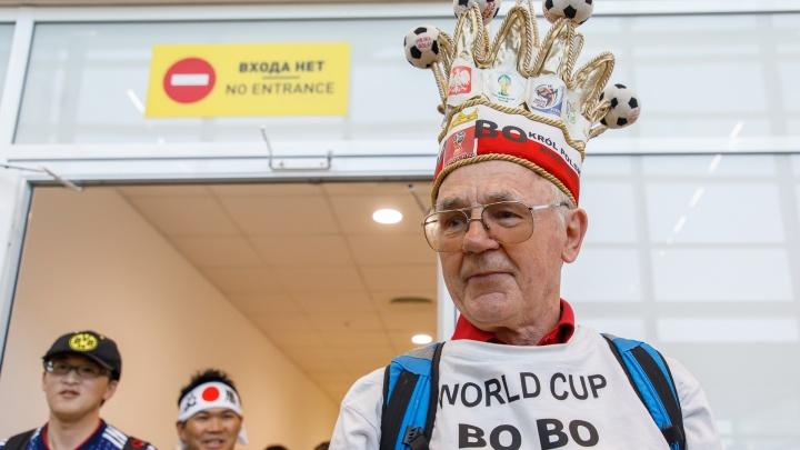 «После чемпионата я почти голый, но веселый»: в Волгоград прилетел король всех фанатов из Польши