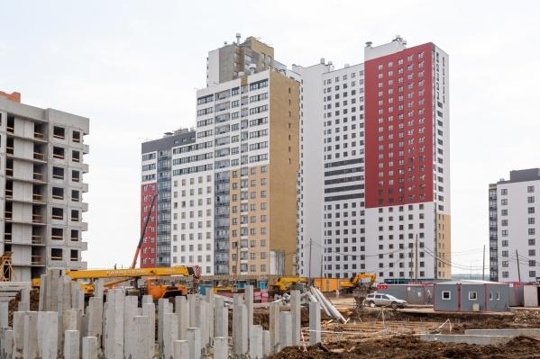 В ЖК «Меридиан» возводятся три новых дома, возле которых пройдет пешеходный бульвар