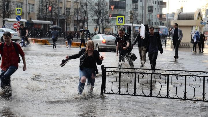 Сплошные осадки: в начале рабочей недели в Екатеринбурге пройдут дожди с грозами
