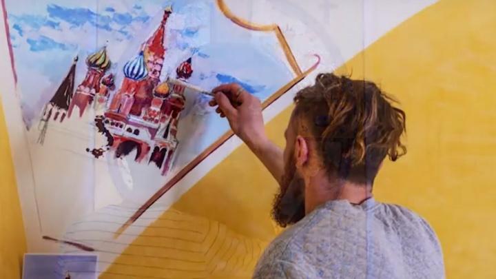 Красноярский художник-путешественник расписал православный храм в Италии