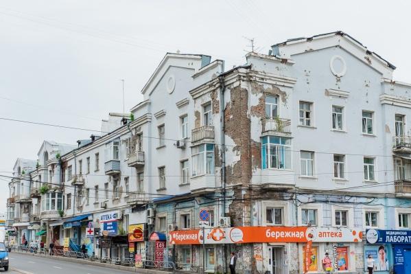 Дом в центре Перми выглядит удручающе