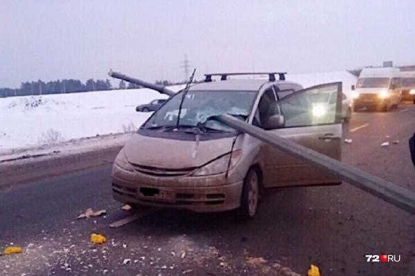 Авария случилась на девятом километре трассы Тюмень — Боровский — Богандинский