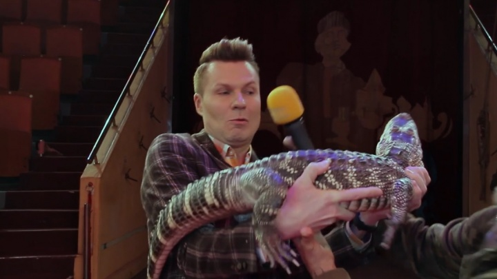 Крокодил набросился на ярославского ведущего во время съёмок