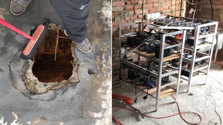 Пробили дыру в крыше: на Химмаше ограбили майнинговую ферму, оборудованную в гараже